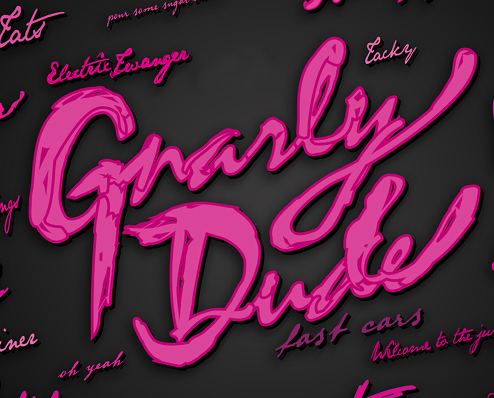 gnarly typography