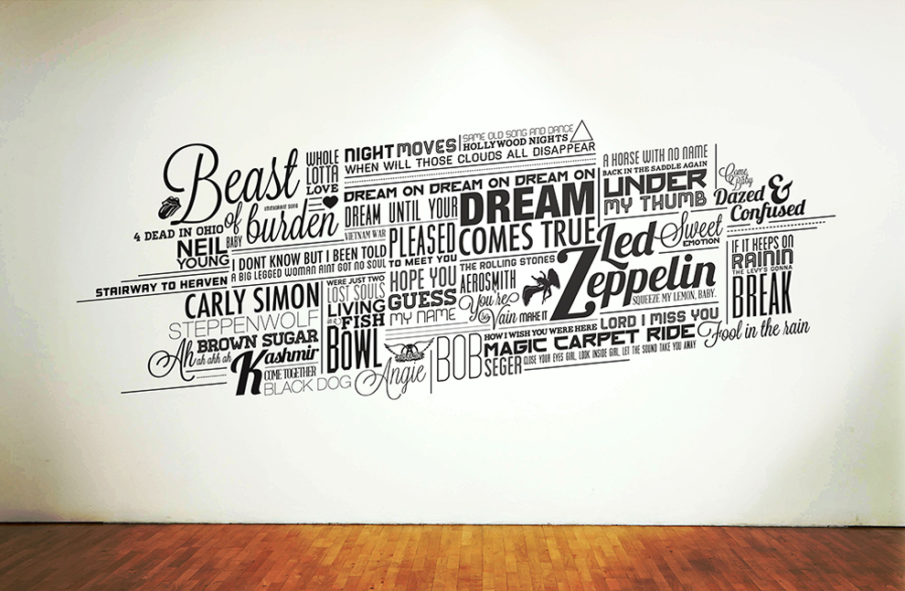 typography wall decal